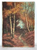 Poll Hugó 1867-1931 Eredeti! gyönyörű olaj, vászon festmény Franciaországból