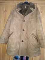 Valódi Irha bunda, szőrme, irhabunda, télikabát, barna téli kabát