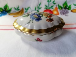 Oscar Schlegelmilch porcelán antik ékszeres dobozka cca 1900 kézzel festett