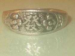 Békesség Keleti írásjelű Tibeti ezüst Gyűrű 8-as