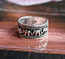 Elefántos bizsu gyűrű