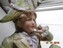 Antik biszkvit számozott német porcelán szobor 23x10x12 cm