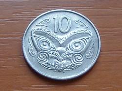 ÚJ-ZÉLAND NEW ZEALAND 10 CENT 1988 MAORI MASZK #