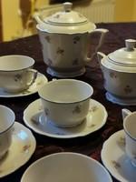 Zsolnay antik teás készlet pajzspecsétes az 1930 -as évekből