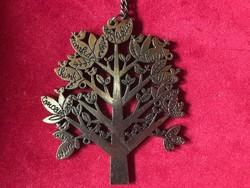 Fát ábrázoló bronz nyaklánc
