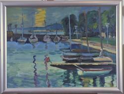 Schéner Mihály (1923-2009): Balatoni kikötő