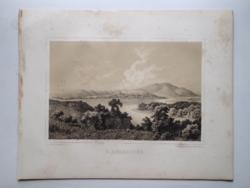 Keleti Gusztáv: Bodrogkeresztúr. Litográfia az eredeti(!) Tokaj-hegyaljai albumból (Pest, 1867)