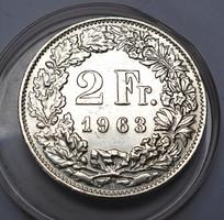 2 frank 1963,tanúsítvánnyal.