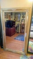 Antikolt óriás metszett tükör