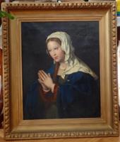 Ismeretlen festő, Bécs, 1830-as évek: Másolat Joos van Cleve († 1540/41) Imádkozó Madonnájáról