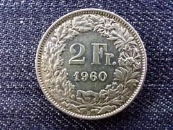 Svájc .835 ezüst 2 Frank 1960 B / id 13915/