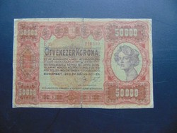 50000 korona 1923 RR !