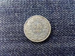 Svájc .835 ezüst 1/2 Frank 1921 B / id 13951/