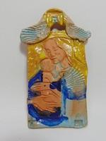 Madonna kerámia falikép