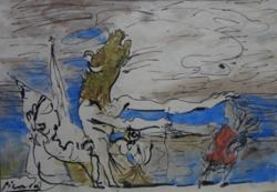 Pablo Picasso akvarellje eredetigazolással