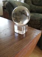 Mini üveg földgömb dísz