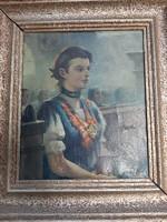Pécsi-Pilch Dezső - Lány bajor népviseletben