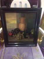 Antik ( 1884 ) Csendélet Festmény Gyönyörű Antik Keretben Eladó & Csere Is Leárazva