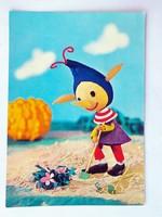 Retro  báb mese képeslap - Tulok Ferenc