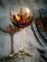 Tiffany stílusú kelyhes poharal