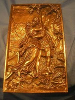 N15 Magyaros ölelés  nagy 26x 16.5 cm-es szép állapotú falikép ritkaság eladó