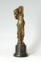 Korsós nőalak  bronz szobor  799