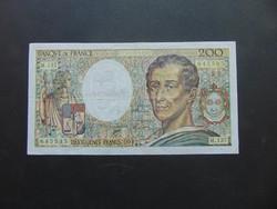 Franciaország 200 frank 1992  01 Szép ropogós bankjegy