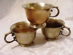 Jelzett, különleges, antik, ezüstözött, komacsészék, darabonként megvehetőek