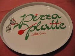 Zománcos pizza tányér, tálca