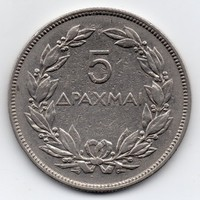 Görögország 5 görög Drachma, 1930