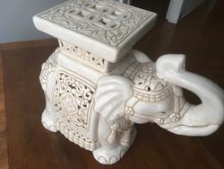 Gyönyörű elegáns porcelán elefánt virágtartó