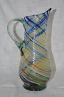 Csavart szakított üveg kancsó ( DBZ 00121 )
