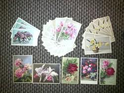 Virág mintás képeslapok - '40-es évek