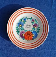 Kassai emlék porcelán falitányér, Szatmáry Hollóháza 1939-1945