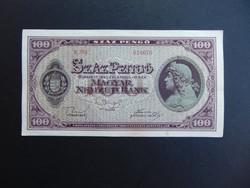 100 pengő 1945 E 261  Hajtatlan bankjegy 02
