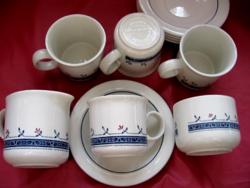 Angol shabby 10 részes kávés, teás készlet