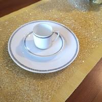Porcelán reggeliző szett 3 db-os kávés