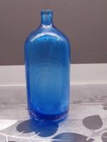 Szódás üveg kék - Feliratos Mezőkovácsháza