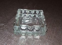 Üveg kristály hamutartó hamutál