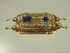 egyedi Medall ritka  arany 14 judaika TORA