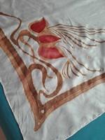 Ideen, kézzel festett tiszta selyem kendő