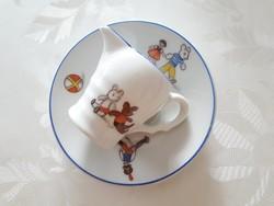 Retro mesemintás porcelán kis kiöntő tejkiöntő