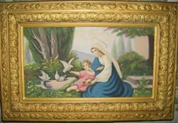 Régi festmény gyönyörü keretben