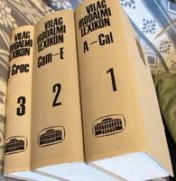 Világirodalmi Lexikon Első 3 kötete HIBÁTLAN állapot, mint az új