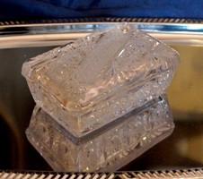 Bohémia kristály doboz bonbonier új állapot