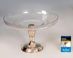 Ezüst art deco asztalközép