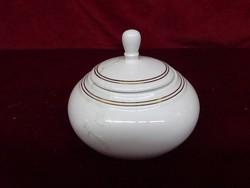 Alföldi porcelán cukortartó, dupla arany csíkkal. Vitrin minőség.