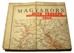 Magyarország Autó Térképe 1947 eredeti fa dobozban
