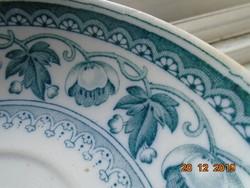 1909 Nagyon ritka Villeroy&Boch Jugendstil Wallerfangen Helgoland mintás teás csésze alátéttel