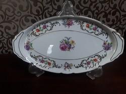 3018 - Gyönyörű, rózsás porcelán tál